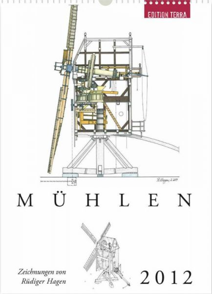"""Kalender """"Mühlen 2012"""" für Sammler"""